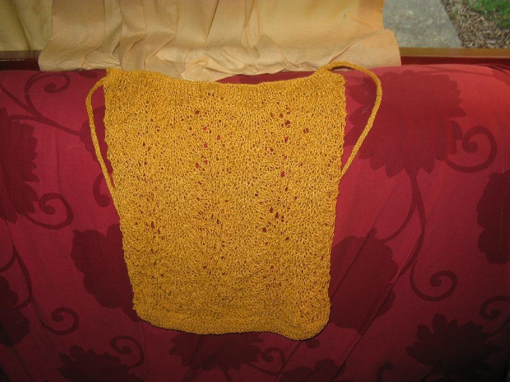 Beginners Lace Market Bag Knitting pattern by puggerhugger Knitting Pa...