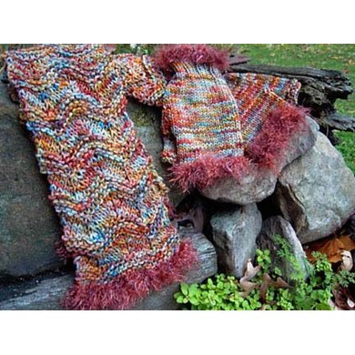 Ragamuffin Scarf and Mitts