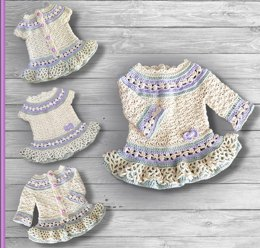 Lavender Child Dress and Cardigan