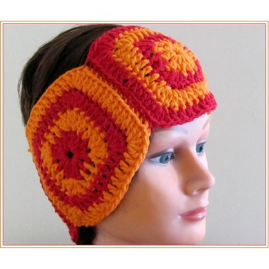 Crochet Headband Pattern Granny Squares Ear Warmer