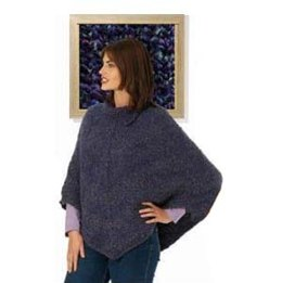 Split Collar Poncho: Homespun Version in Lion Brand Homespun - 40530-HS