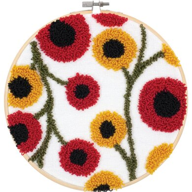 Dimensions Punch Needle Kit - Floral Pattern - 8in