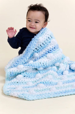 Cuddly Travel Blanket in Red Heart Snuggle Bunny - LW3491 - Downloadable PDF