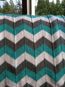 Chevron Baby Blanket and Chevron Throw