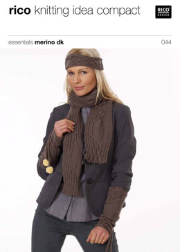 Cuffs, Headband and Scarf in Rico Essentials Merino DK - 044