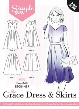 Simple Sew Patterns The Grace Dress & Skirt #032 - Sewing Pattern