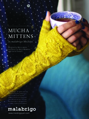 Mucha Mittens in Malabrigo Mechita - Downloadable PDF