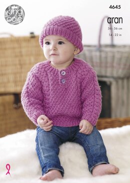 Sweater, Trousers, Hat & Mittens in King Cole Comfort Aran - 4645 - Downloadable PDF