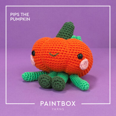Pips the Pumpkin - Free Toy Crochet Pattern For Halloween in Paintbox Yarns Cotton Aran by Paintbox Yarns