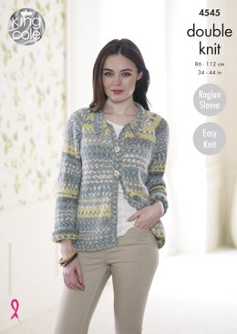 Cardigan & Sweater in King Cole Drifter DK - 4545