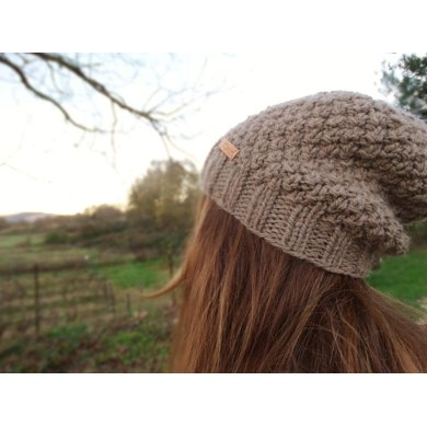 Simple slouchy textured hat