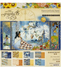 """Graphic 45 Double-Sided Paper Pad 8""""X8"""" 24/Pkg - Dreamland, 8 Designs/3 Each"""