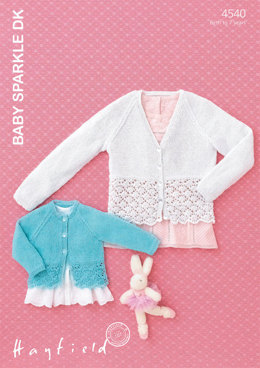 Baby and Girls Cardigans in Hayfield Baby Sparkle DK - 4540 - Downloadable PDF