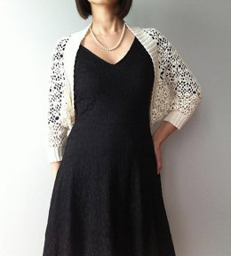 Clair - continuous motif shrug (crochet+knit)