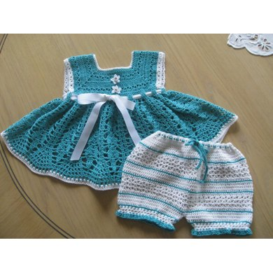 Seafoam Sunsuit with Bloomers