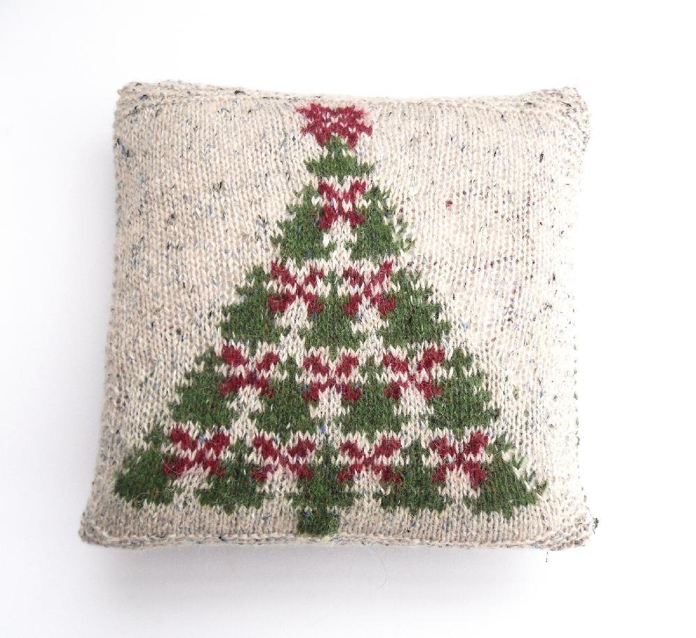 Fair Isle Christmas Tree charts & cushion cover Knitting pattern by ...