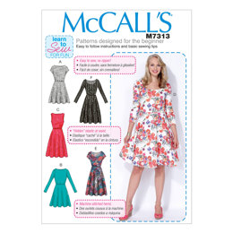McCall's Misses'/Women's Flared Dresses M7313 - Sewing Pattern