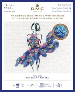 DMC Tutu Blue (includes Étoile) Cross Stitch Kit - 25cm x 35 cm - BK1795