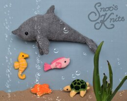 Dolphin and Friends Knitting Pattern Snoo's Knits