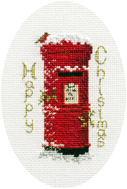 Derwentwater Designs Christmas Post Card Cross Stitch Kit - 12.5cm x 18cm