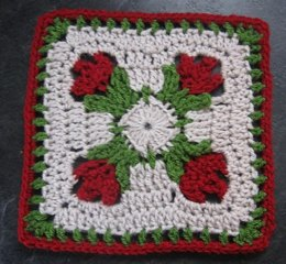 Tulip Dishcloth TUTORIAL