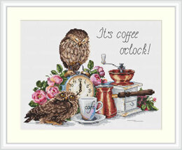 Merejka It's Coffee O'Clock Cross Stitch Kit - MER-K083