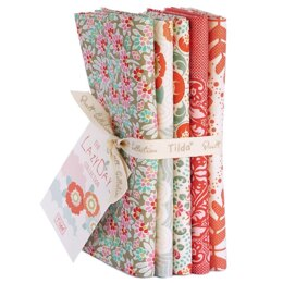 Tilda LazyDays Fat Quarter Bundle (Set of 5) - Coral