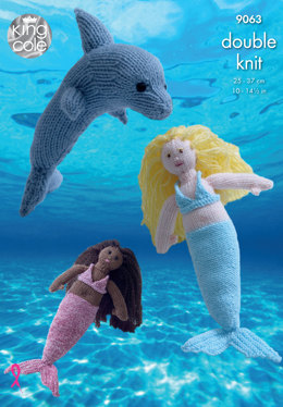 Mermaid & Dolphin in King Cole Various DK - 9063 - Leaflet