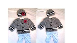 891 Baby Sweater Set