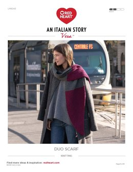 Duo Scarf in Red Heart Vera - LM6043 - Downloadable PDF