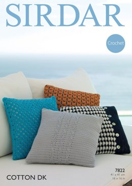 Cushions in Sirdar Cotton DK - 7822- Downloadable PDF