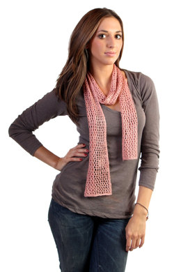 Simple Lace Scarf in Windy Valley Muskox Qiviut