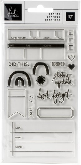 American Crafts Heidi Swapp Storyline Chapters Clear Stamps 17/Pkg - 621315