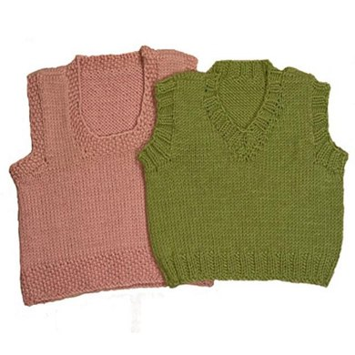 Easy Baby Vests Knitting Pattern By Momogus Knits Patterns