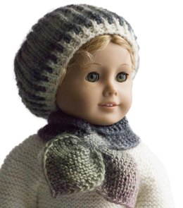 Winter Butterfly hat and scarf set