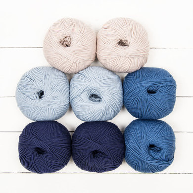 August Baby Blanket by Brixton Purl - MillaMia Naturally Soft Merino 8 Ball Color Pack
