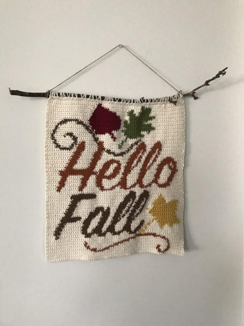 Hello Fall Wall Hanging