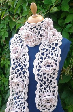 Pretty in Pink Rose Scarf