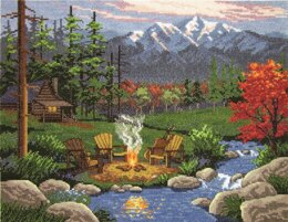 Janlynn Corporation Camp Fire Cross Stitch Kit - 36cm x 28cm