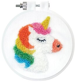 Design Works Unicorn Punch Needle Kit - 7.5cm
