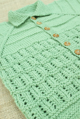 Heirloom Baby Cardigan in Imperial Yarn - F03