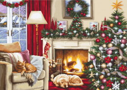 Luca-S Christmas Room Counted Cross Stitch Kit - 49cm x 34cm