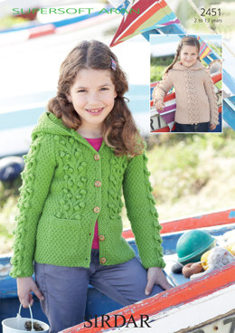 ce77604ec043d Hooded Sweater and Jacket in Sirdar Supersoft Aran - 2451