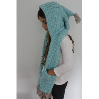 The Indy Hooded Scarf Knitting Pattern By Vanessa Cayton