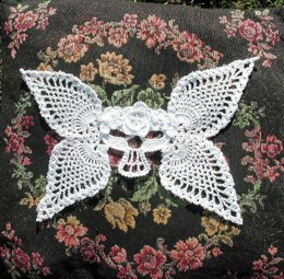 Azreal Day of the Dead Winged Skull Applique
