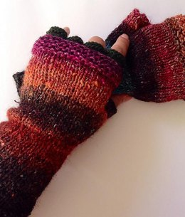 January sunset fingerless gloves