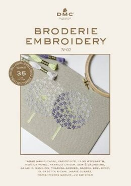 DMC Broderie Embroidery, Hand Embroidery Book (35 new DMC Stranded Cotton colours) - 2004574 -  Leaflet