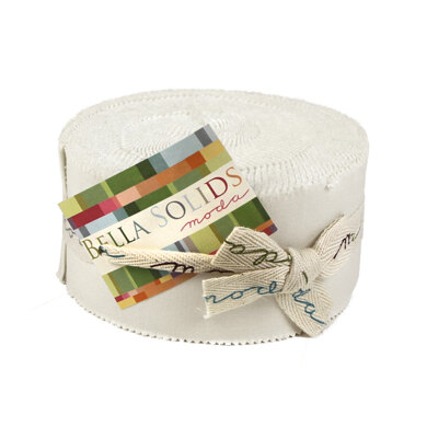 Moda Fabrics Bella Solids 2.5in Strip Roll - White