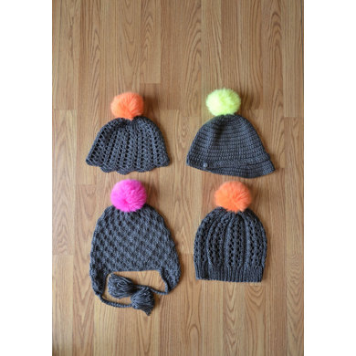 Go-Go! Hats in Universal Yarn Uptown Worsted