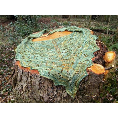 Butterfly forest shawl